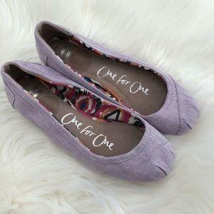 Lavender Toms Flats